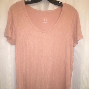 Tops - Shimmery pink T-shirt from Target